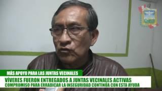 VÍVERES FUERON ENTREGADOS A JUNTAS VECINALES ACTIVAS   ASI SE REAFIRMA EL COMPROMISO DEL ALCADE JOSE