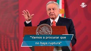 El mandatario dijo que México no quiere dar motivos para que haya represalias y criticó que en el conflicto no se vea el interés genera
