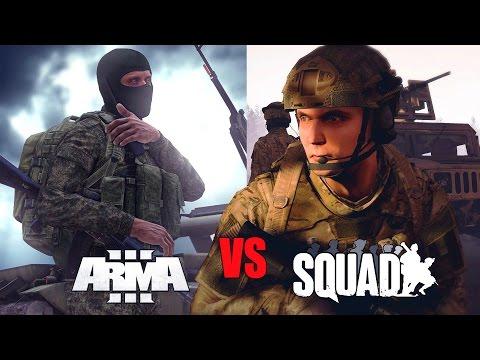 SQUAD vs ARMA 3 - Хуже или лучше? Обзор!