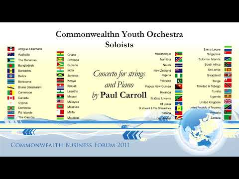Commonwealth Youth Orchestra Soloists  Concerto for Strings and Piano 03 Allegro Vivace