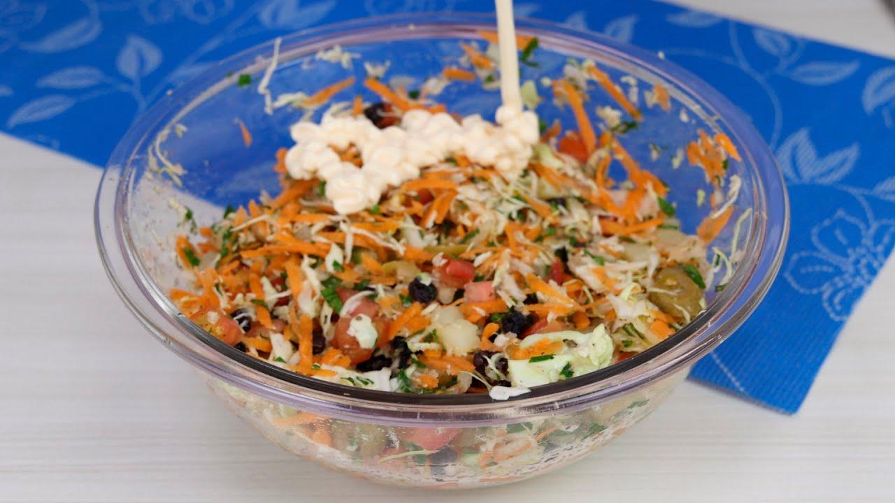 Faça salada de repolho assim da próxima vez! Fácil, rápida e pronta em menos de 10 minutos!!