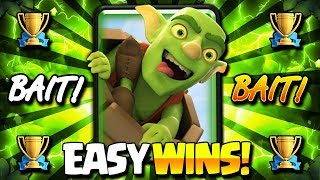 DESTROY MAX LEVEL 13's EASY!! MY BEST TROPHY BAIT DECK!!