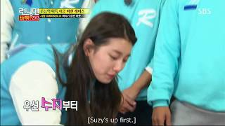 RM (funny) Kim Jong Kook can't stop teaching Suzy how to play game.