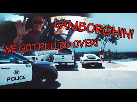 PULLED OVER IN THE LAMBORGHINI HURACAN!