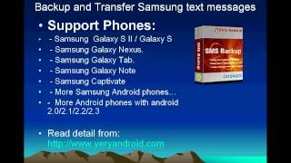 How to backup Samsung Galaxy S text messages to PC