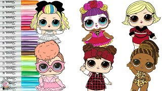 LOL Surprise Dolls Coloring Book Compilation 80s BB Fierce Bebe Bonita As if Baby Babe in the Woods