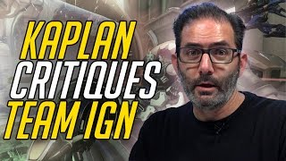 Jeff Kaplan Critiques IGN's Overwatch Team