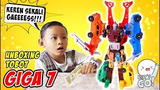 Unboxing Tobot Giga Seven RTV Gabungan 7 Tobot X Y Z D K T V Adventure - Transformers Cars to Robot