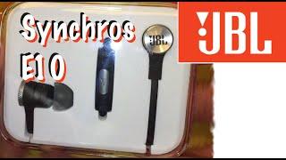 unboxing jbl synchros e10 in ear headphones