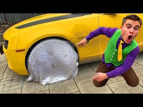 13+ Red Man BEWITCHED Wheels Car VS Mr. Joe on Chevrolet Camaro without Wheel VS Magic Blanket
