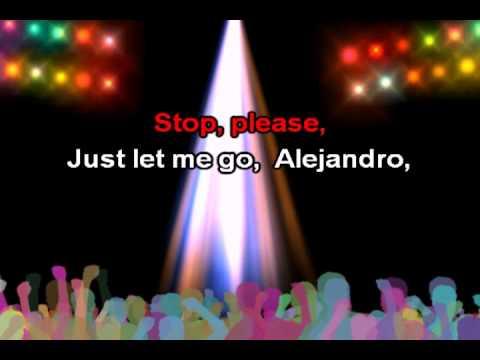 Alejandro, lyrics - Lady Gaga karaoke