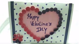 How To Make Valentine's Day Greeting Card With Paper Quilling