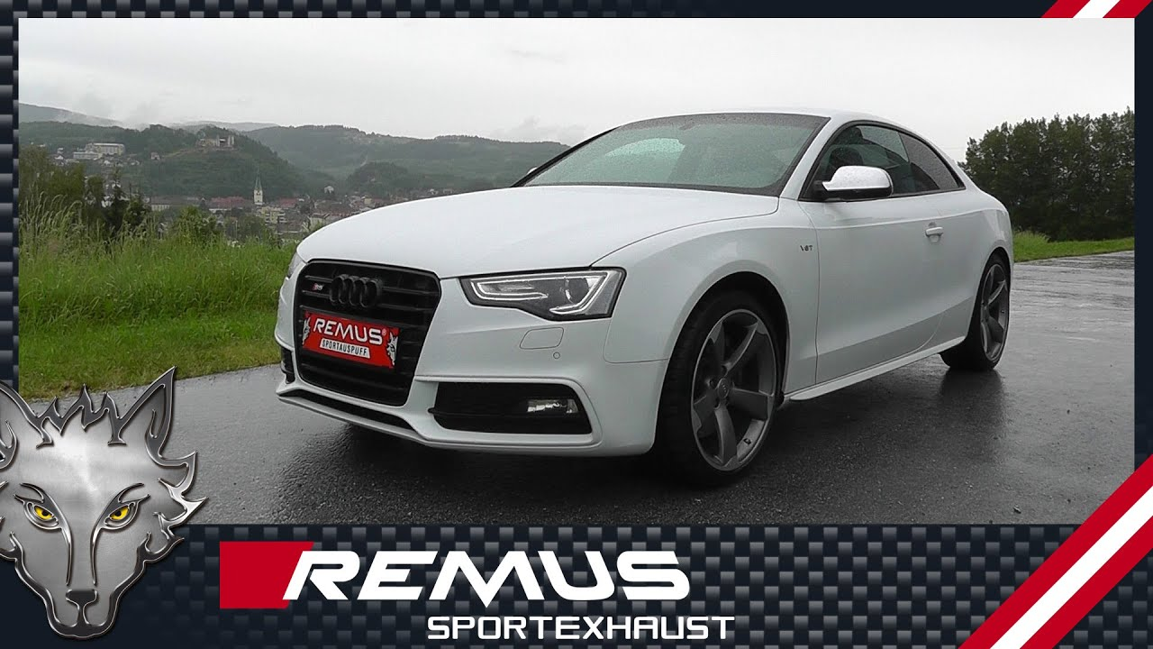 Audi S5 Type 8t With Remus Cat Back Sport Exhaust System