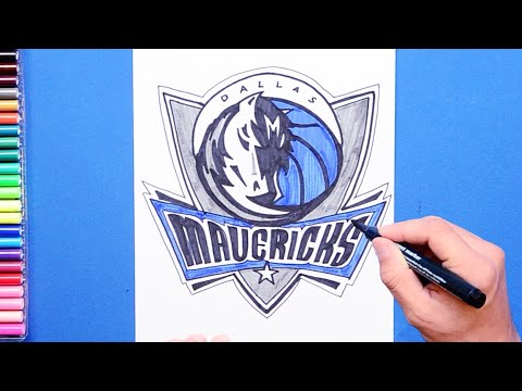 How to draw and color the Dallas Mavericks - NBA Team Series