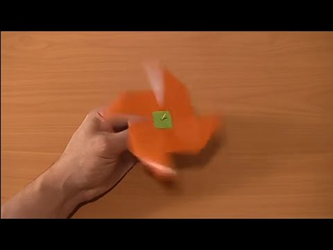 DIY - Origami - How to make a Windmill