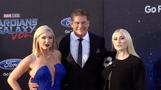 "David Hasselhoff with Taylor and Hayley ""Guardians of the Galaxy Vol 2"" World Premiere"
