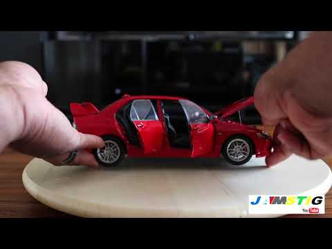Super A 1:18 Mitsubishi Lancer Evo 9 Rally Red JamStig