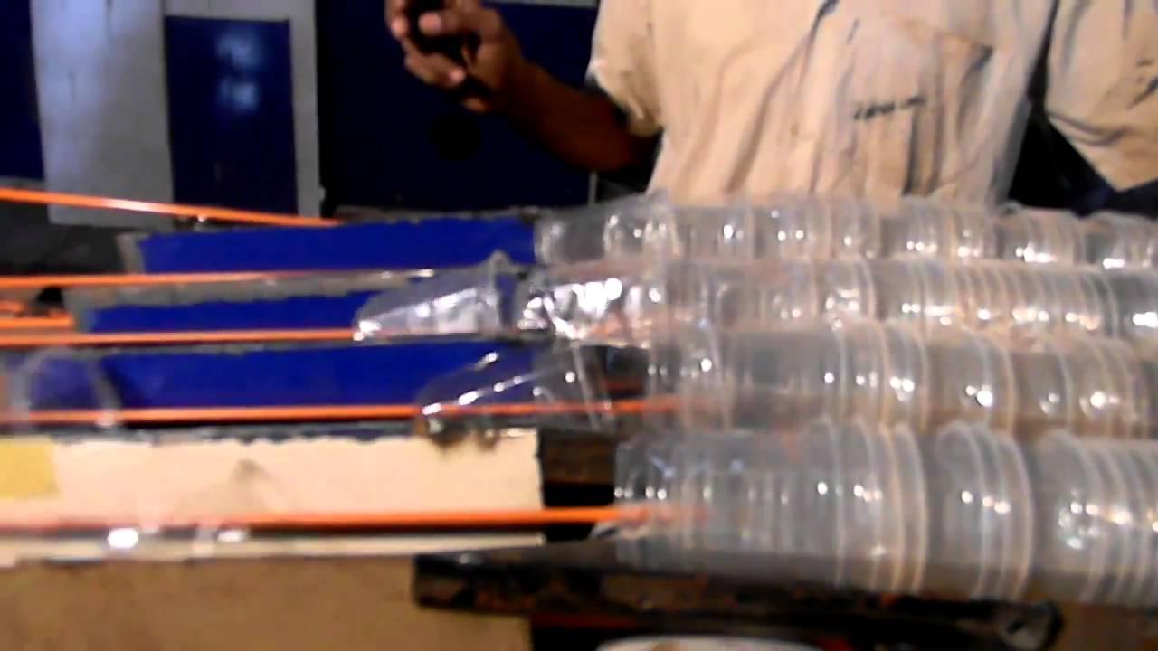 & Stacker for disposable glasses - YouTube