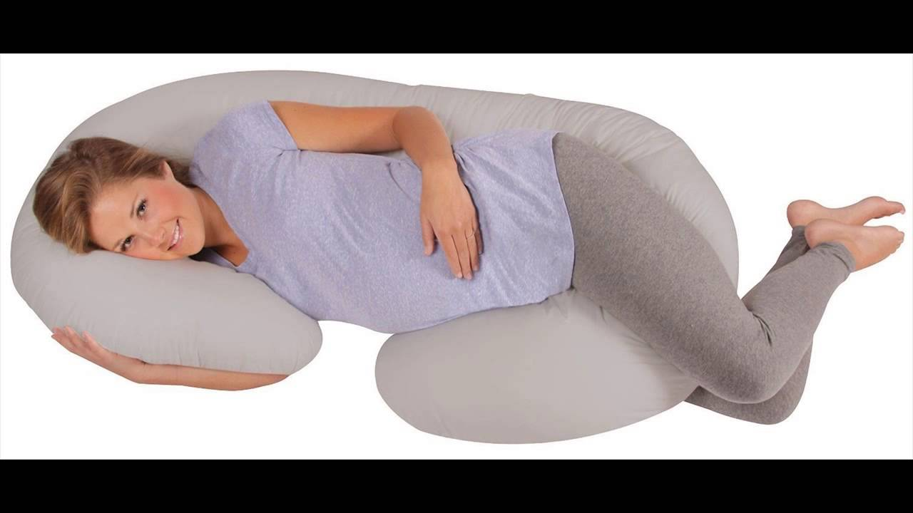 Leachco Snoogle Total Body Pillow Gray Youtube