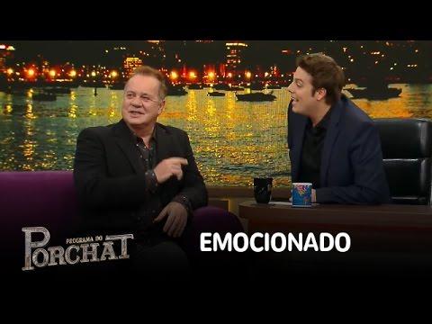Porchat se emociona ao entrevistar ídolo Luiz Fernando Guimarães