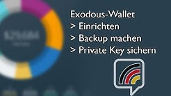 Tutorial: Exodus einrichten | Backup einrichten | Private Key sichern