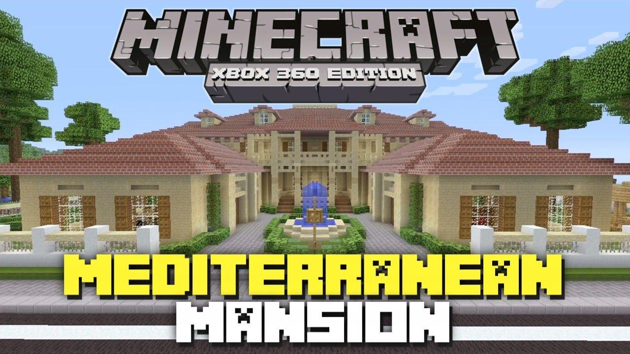 Minecraft xbox 360 huge mediterranean mansion showcase for Minecraft big modern house tour