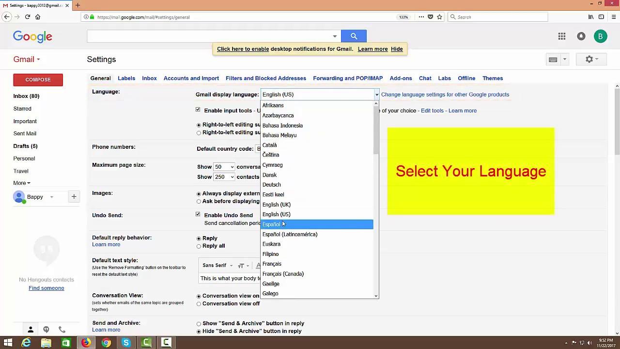 how to change gmail accounts
