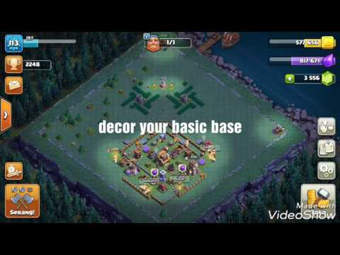 Clash of clans DECORATION your basic builder base New