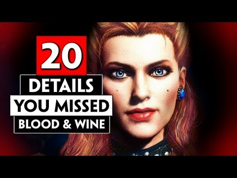 20 Details You Missed In Toussaint (Blood And Wine) Part 1 | THE WITCHER 3