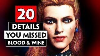 20 Details You Missed in Toussaint (Blood and Wine) Part 1   THE WITCHER 3