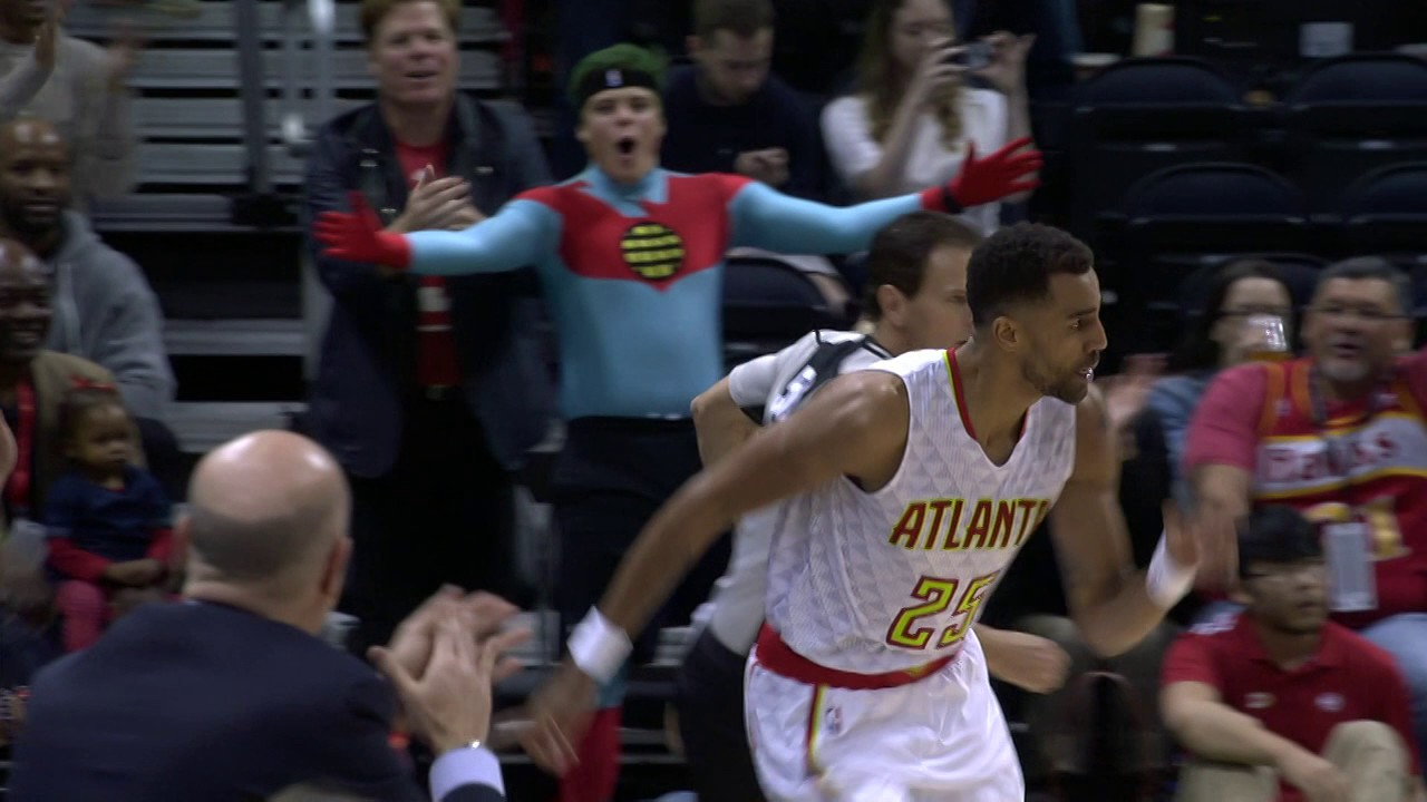 ridiculous sefolosha circus shot on halloween - youtube