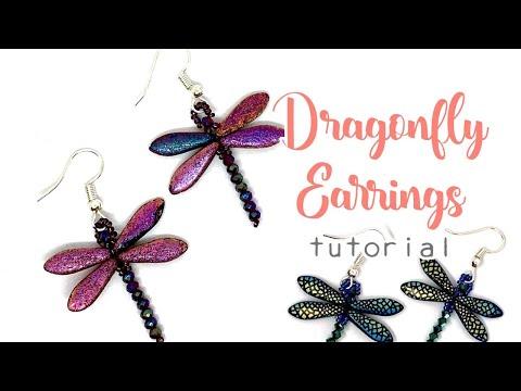 Dragonfly Earrings - Beginners Jewellery Making Tutorial