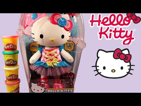 Hello kitty ballerina doll with play doh dress hello kitty dolls toys plastilina ktr - Ballerine hello kitty ...