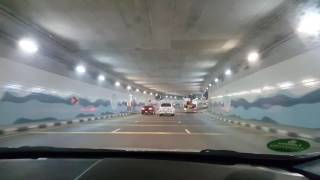 Driving in UAE-Palm Jumeirah tunnel