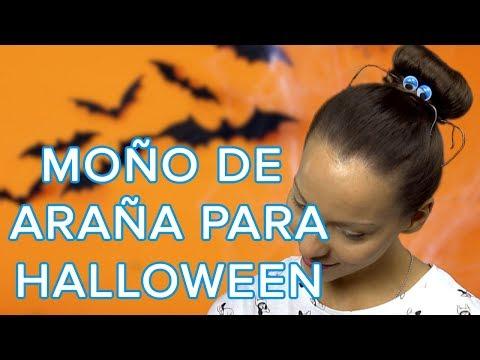Cómo hacer un moño de araña para Halloween | Peinados de Halloween para niños