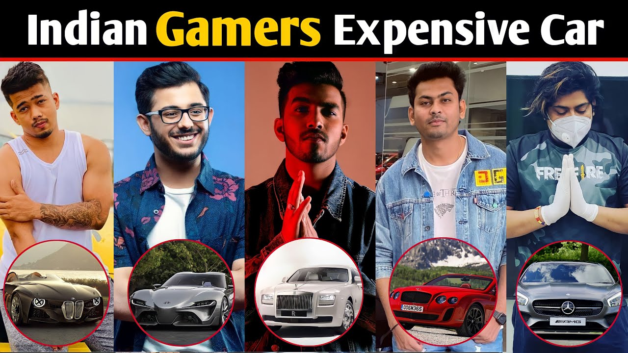 10 Indian Gamers Most Expensive Car   Carryminati, Dynamo Gaming, Scout, Techno Gamers
