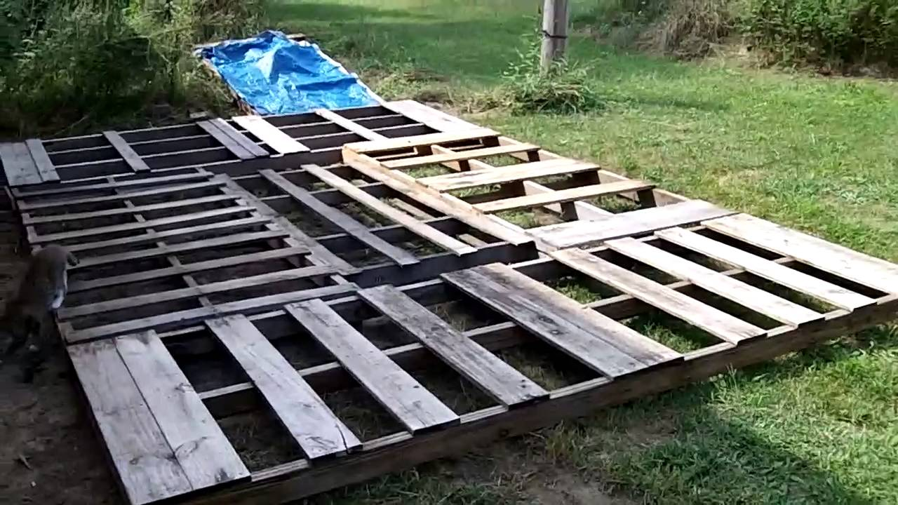 Portable garage part 1 building the base youtube for How to build a garage floor