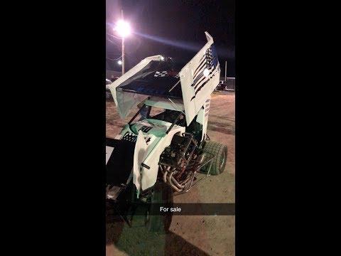 600 cc Micro Sprint Crash at Paradise Speedway in Geneva NY 10-05-19