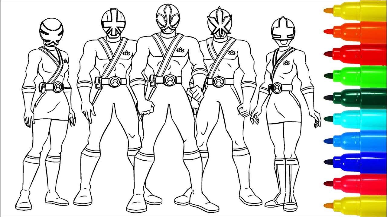 Power Rangers Samurai Coloring Pages | Colouring Pages for Kids with ...