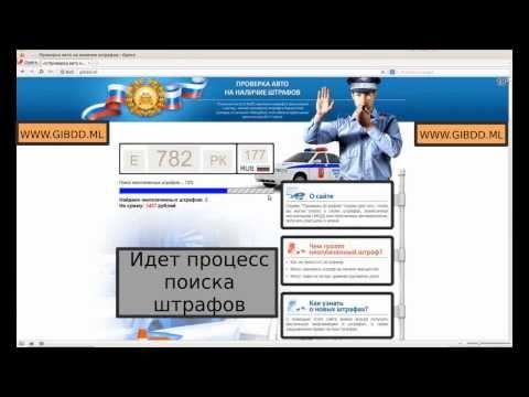 Проверить штрафы ГИБДД официальная информация, проверка