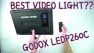 BEST VIDEO LIGHT?? GODOX LEDP 260C VIDEO LIGHT UNBOXING. OVERVIEW