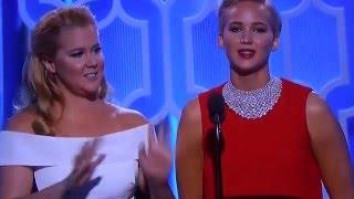 Amy Schumer y Jennifer Lawrence Globos de Oro 2016