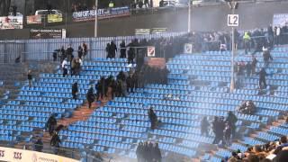 Bitka (Válka) na Bazalech ~ FC Baník Ostrava vs. AC Sparta Praha vs. Policie 22.3.2014 ~ HD