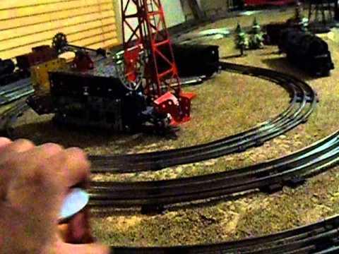 lionel o gauge train locomotive made from erector set.