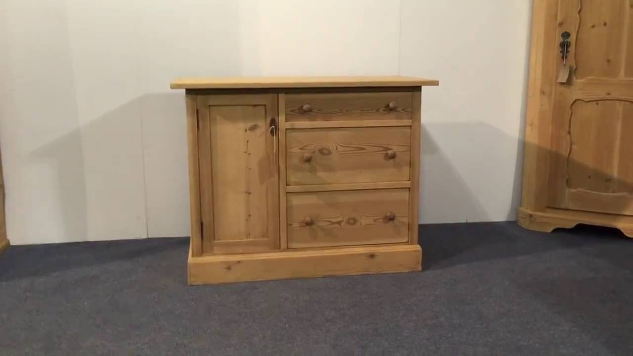 Small Cupboard With Drawers   Pinefinders Old Pine Furniture Warehouse