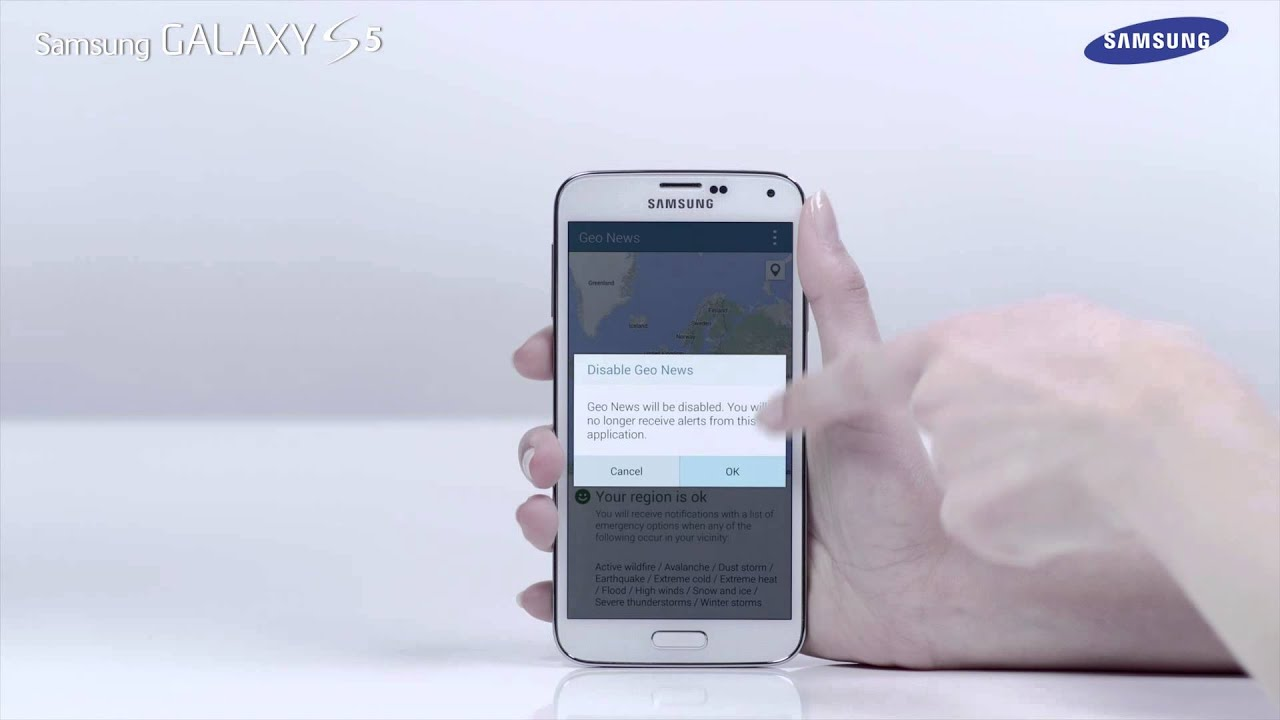 samsung galaxy s5 | how to: use the geo news feature - youtube - Mobile Tv Geo News