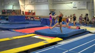 drills for head in on bk tumbling and twisting