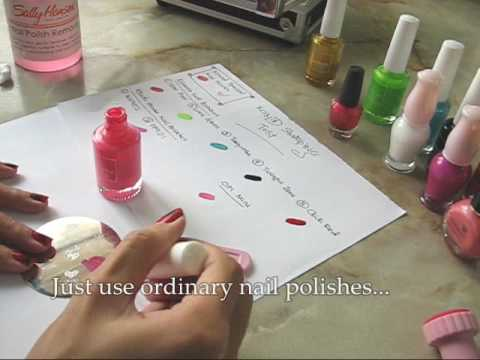 Konad Stamping With Ordinary Nail Polishes Works Youtube