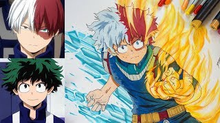 Drawing Midotodoroki / Midoriya & Todoroki's Fusion From My Hero Academia