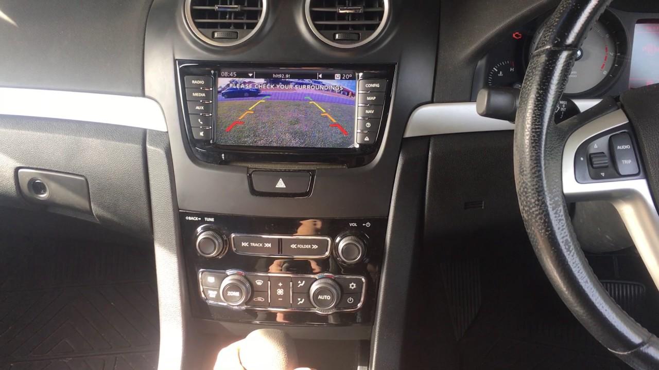 Holden Ve Series 2 Iq Reverse Camera Demonstration